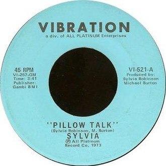Pillow Talk (song) - Image: Sylvia Pillow Talk single cover