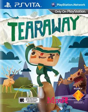 Tearaway (video game) - The game includes reversible box art featuring the male character on one side (shown above) and the female character on the other.