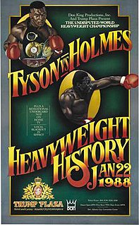 Mike Tyson vs. Larry Holmes Boxing competition