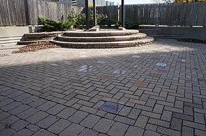 UIS Irish Plaza - The memorial pavers at the UIS Irish Plaza
