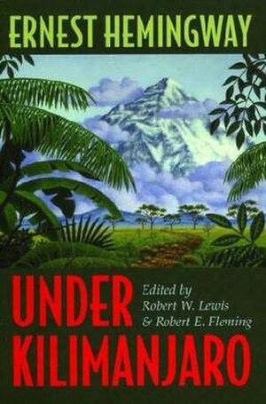 Under Kilimanjaro - First edition