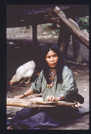 Urarina people - Urarina woman weaving, 1988