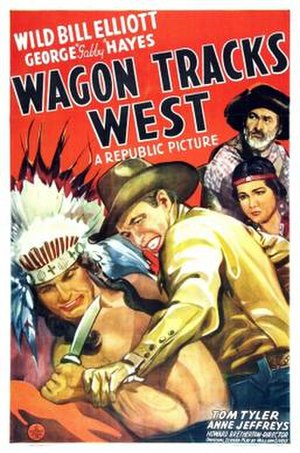 Wagon Tracks West - Theatrical release poster