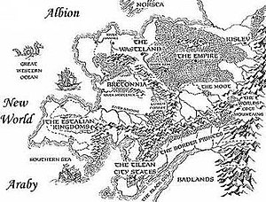 Warhammer Fantasy (setting) - The map of the Warhammer Old World.