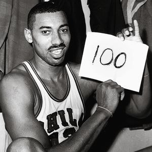 Wilt Chamberlain - Chamberlain after his record setting 100-point game.