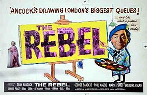 The Rebel (1961 film) - Trade ad poster by Tom Chantrell