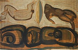 Guy Anderson - Image: 'In the Dark and Light of Seeding', Guy Anderson, 1970, oil on paper