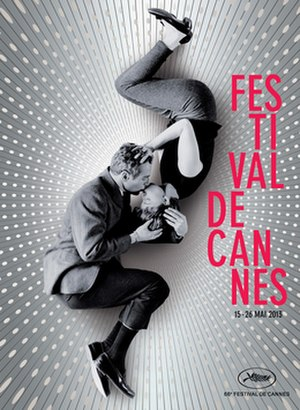 2013 Cannes Film Festival - Official poster of the 66th Cannes Film Festival featuring a photo of Paul Newman and Joanne Woodward during the shooting of the film A New Kind of Love