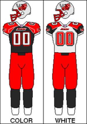 Grand Rapids Rampage - Image: AFL Uniform Current GRD