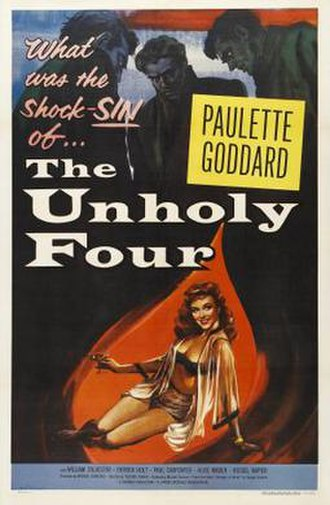 A Stranger Came Home - A poster for the film bearing its American title: The Unholy Four
