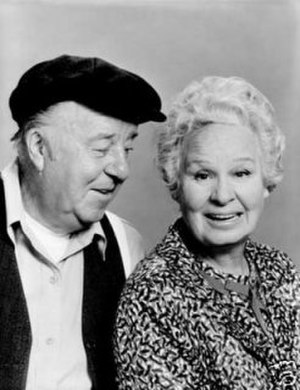 A Touch of Grace - J. Patrick O'Malley as Herbert Morrison and Shirley Booth as Grace Simpson in a promotional photo for A Touch of Grace.