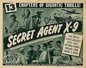 Secret Agent X-9 (1945 serial) - Theatrical release poster