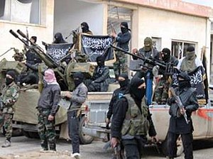 Al-Nusra Front - Al-Nusra Front fighters during the Syrian Civil War.