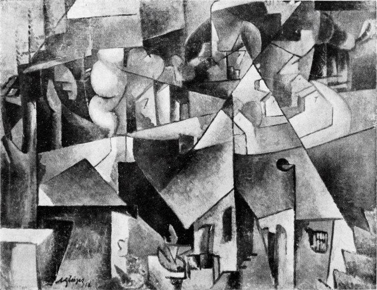 Albert Gleizes, 1912, Landschaft bei Paris, Paysage près de paris, Paysage de Courbevoie, oil on canvas, 72.8 x 87.1 cm, missing from Hannover since 1937