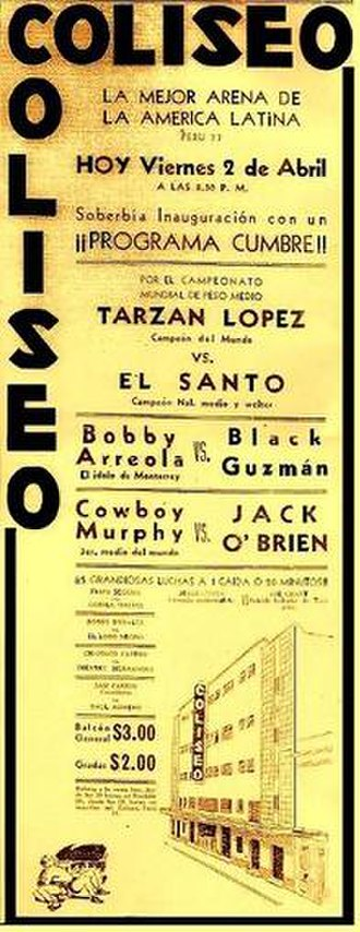 Arena Coliseo - Poster for the first ever Arena Coliseo Show