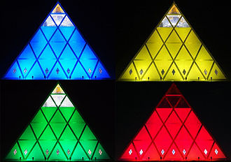 Palace of Peace and Reconciliation - A night view of the Pyramid of Peace
