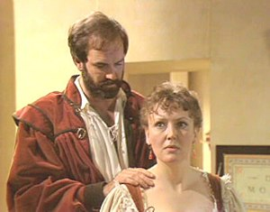 John Cleese and Sarah Badel in the BBC Shakesp...