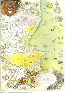 Map Of Narnia Narnia (world)   Wikipedia