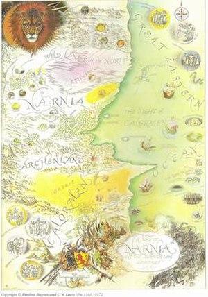 Narnia (world) - 1972 Map of Narnia by Pauline Baynes