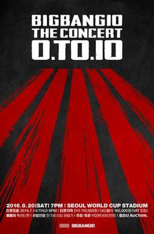 0.TO.10 - The official poster of the Concert in South Korea