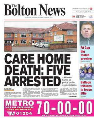 The Bolton News - Image: Bolton Evening News front page