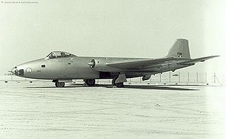 No. 35 Squadron IAF -  A Canberra of the No. 35 Squadron. The Rapier emblem is clearly visible