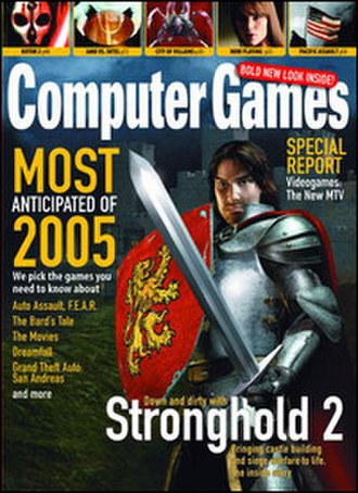 Computer Games Magazine - A sample issue of Computer Games Magazine.