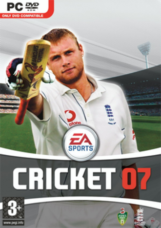 Cricket 07 - Cover art, featuring Andrew Flintoff