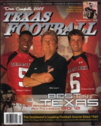 2008 Texas Tech Red Raiders football team - Head coach Mike Leach, along with players Graham Harrell and Michael Crabtree