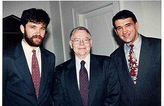 Dmitry Shparo - Dmitry and Matvey Shparo with the American Ambassador to Russia
