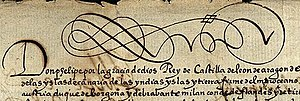 Primary source - From a letter of Philip II, King of Spain, 16th century
