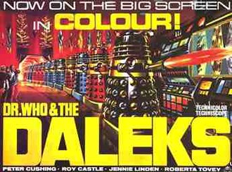 Dr. Who and the Daleks - Original theatrical banner