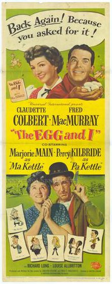 Film poster featuring Betty and Bob, and Ma and Pa Kettle