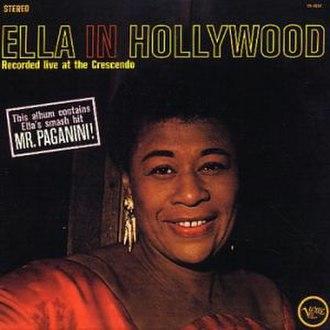 Ella in Hollywood - Image: Ella in Hollywood LP