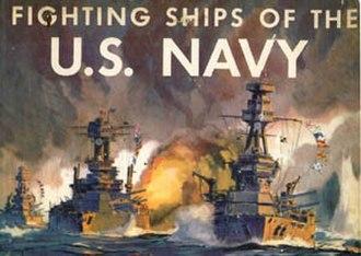 Jack Coggins - Fighting Ships of the U.S. Navy, by Fletcher Pratt, illustrated by Jack Coggins, cover art by Jack Coggins
