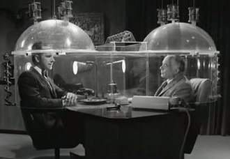 """Cone of Silence (Get Smart) - Cone of Silence from Episode 1 (""""Mr. Big"""", 1965) of Get Smart"""