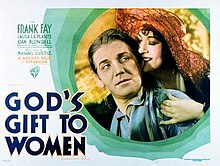 Frank Fay and Yola d'Avril in the theatrical release poster for God's Gift to Women