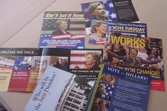 Hillary Clinton presidential campaign, 2008 - Direct mail to targeted New Jersey voters before the Super Tuesday primaries on February 5, 2008.