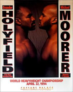 Evander Holyfield vs. Michael Moorer Boxing competition