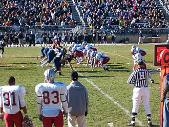 IUP Crimson Hawks football - NCAA Division II playoff game at Shepherd in 2007.