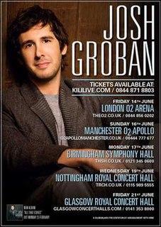 All That Echoes World Tour 2013 Josh Groban concert tour