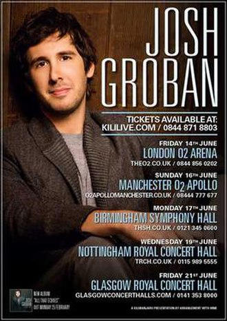All That Echoes World Tour - Image: J Groban 2013Tour Flyer