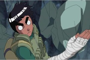 Rock Lee - When he opens the chakra gates, Lee's skin turns red and the power and speed of his taijutsu techniques are enhanced.
