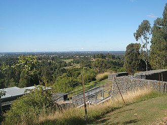 Cumberland Plain - The Cumberland Plain as viewed from atop the Western Sydney Parklands in Horsley Park.