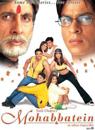 Mohabbatein - Theatrical release poster