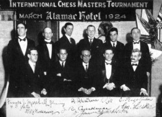New York 1924 chess tournament - photo of the players