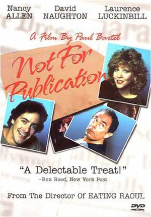Not for Publication - DVD cover