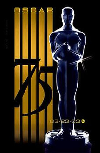 75th Academy Awards - Official poster