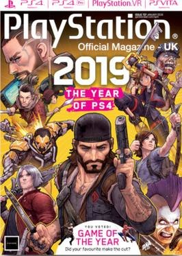 Playstation Official Magazine January 2019 cover
