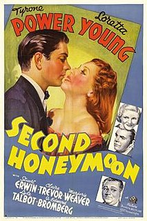 <i>Second Honeymoon</i> (1937 film) 1937 film by Walter Lang